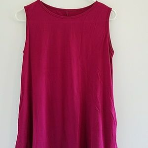 Purple long tank top with lace